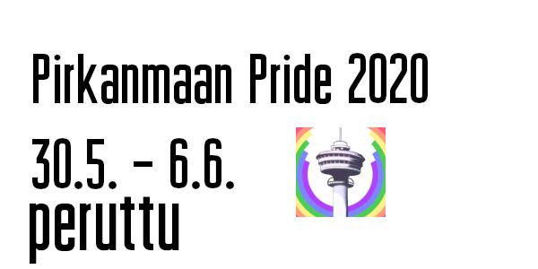 Pirkanmaan Pride 2020 peruttu koronaepidemian vuoksi